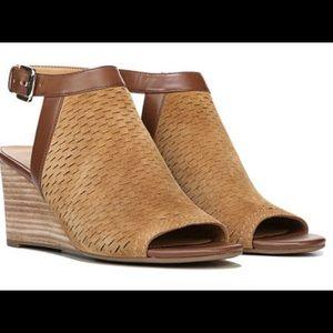 🆕⭐️Franco Sarto Dark Camel Martha Leather Sandal